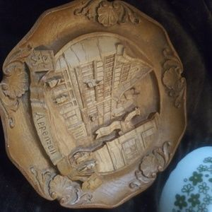 Hand Carved Wooden Plaque